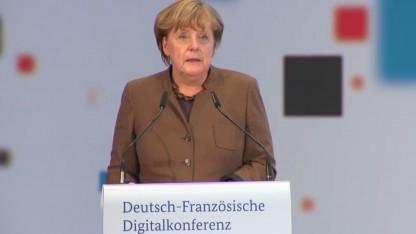 Bundeskanzlerin Angela Merkel auf der Deutsch-Französischen Digitalkonferenz