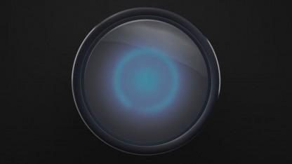 Der Harman-Kardon-Speaker mit Cortana von oben