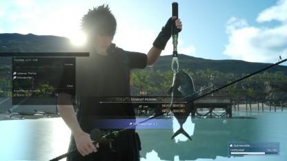 Spieler können in Final Fantasy 15 auch auf Fischfang gehen.