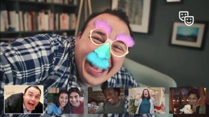 Masken lassen sich in den Videochats von Facebook nur mit iOS einbinden.