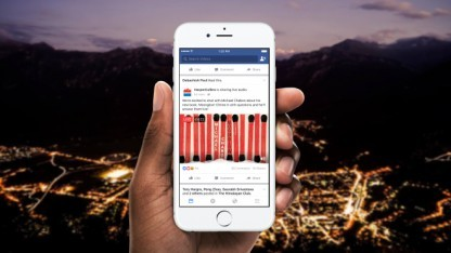 Facebook überträgt nun auch Audiostreams ohne Bewegtbild.