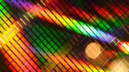 Wafer mit Flash-Chips, allerdings von Toshiba statt von SK Hynix
