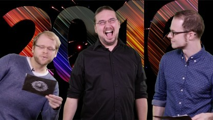 Golem.de-Redakteure Hauke Gierow, Tobias Költzsch und Marc Sauter