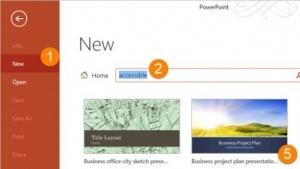 Microsoft Office findet auch barrierefreie Dokumentvorlagen.