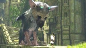 Trico und sein junger Freund in The Last Guardian