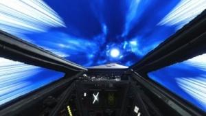 So sieht ein Hypersprung im X-Wing aus