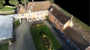 Ein mit Pix4Dmodel und Luftaufnahmen der Bebop 2 erstelltes 3D-Modell