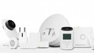 Ein Teil des Komponentenangebots von Medions Smart-Home-System