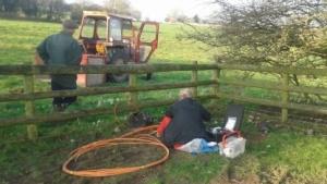 Arbeiten von Bauern bei B4RN
