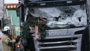Der Scania-Lkw wurde offenbar von dem automatischen Notbremssystem gestoppt.