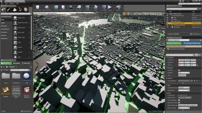 Blick auf New York im Editor der Unreal Engine 4