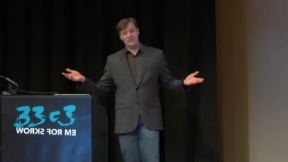 Markus Landgraf während seines Vortrags auf dem 33C3