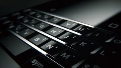 Die Tastatur des neuen Blackberry-Smartphones