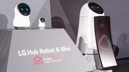 Der Hub Robot, der Hub Robot Mini und der Airbot auf der CES 2017