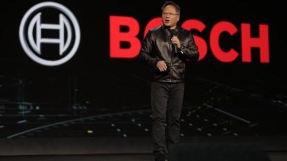 Nvidia-Chef Jen-Hsun Huang kündigt auf der CES 2017 mehrere Kooperationen an.