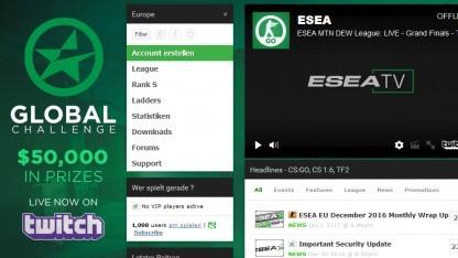 Webseite der Esea