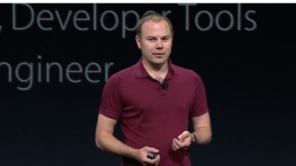 Chris Lattner als Swift-Projektleiter auf dem Apple-Event WWDC 2015
