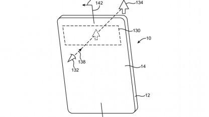 Smartphone mit durchsichtigem Fenster