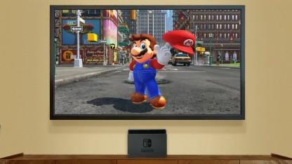 Nintendo Switch mit Super Mario Odyssey