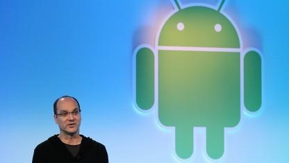 Andy Rubin bei der Präsentation von Android 3.0 Honeycomb