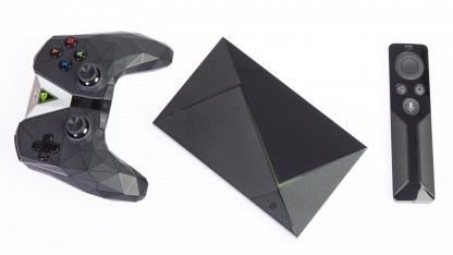 Aktuelles Shield TV mit Zubehör