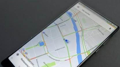 Google Maps auf einem Android-Smartphone