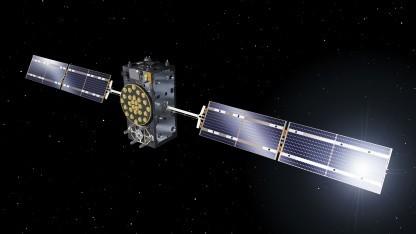 Ein Galileosatellit, künsterlische Darstellung