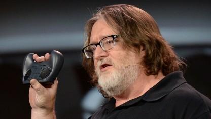Valve-Chef Gabe Newell im Jahr 2014 auf einer Messe