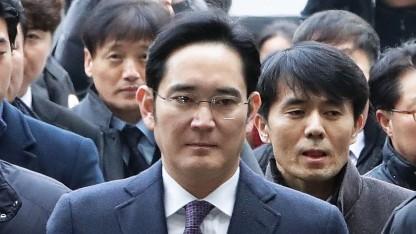 Lee Jae-yong bei einem Gerichtstermin im Januar 2017