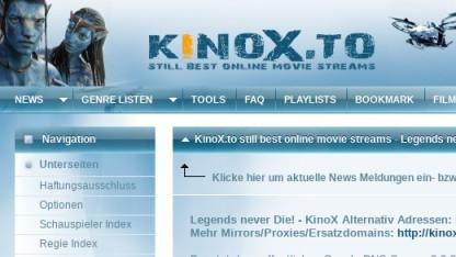 Auf Kinox.to werden aktuelle Filme und Serien illegal verbreitet.