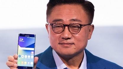 Samsung-Mobile-Chef DJ Koh bei der Vorstellung des Galaxy Note 7