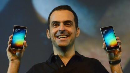 Hugo Barra bei der Präsentation des Xiaomi Mi 4i
