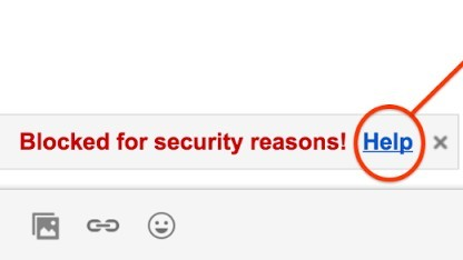 gmail blockierte datei