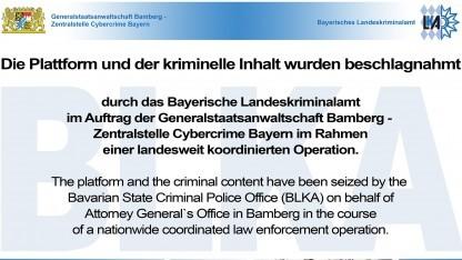 Sperrseite der Zentralstelle Cybercrime Bayern