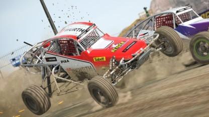 In Dirt 4 können Spieler auch in Buggies fahren.