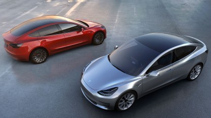 Tesla Model 3: Die Auslieferung soll Ende 2017 beginnen.