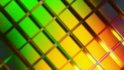 Nahaufnahme von Flash-Chips, allerdings von Toshiba statt von SK Hynix
