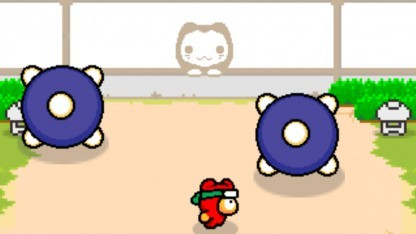 Eines der sechs Minigames in Ninja Spinki Challenges