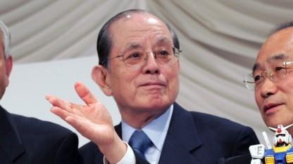 Nakamura Masaya bei der Bekanntgabe der Fusion von Namco und Bandai