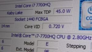Intels neuer i7-7700HQ
