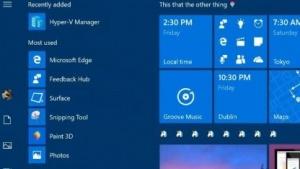 Ordner im Kachelbereich des Windows-10-Startmenüs