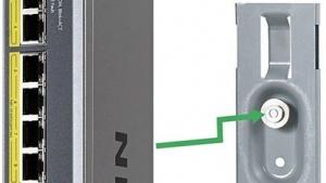 Das Montagesystem Almost Anywhere von Netgear für Prosafe Switches