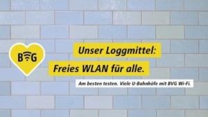 BVG-Werbung ist wie immer cool.