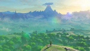 Link ist in The Legend of Zelda: Breath of the Wild in einer offenen Welt unterwegs.