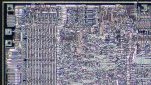 Ausschnitt aus einer MOS 6502 CPU
