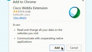 Ciscos Webex-Extension für Chrome war verwundbar.