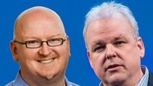 Kevin Scott links und Martin Fink rechts