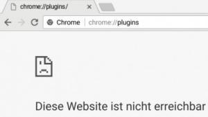 Die Plugin-Seite ist in Vorabversionen von Chrome verschwunden.