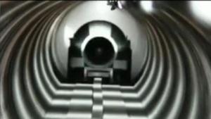 Warr-Kapsel in der Röhre: geplant waren 320 km/h