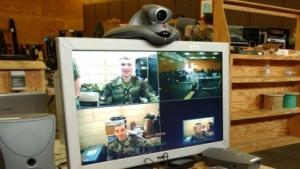 Eine Videokonferenz.